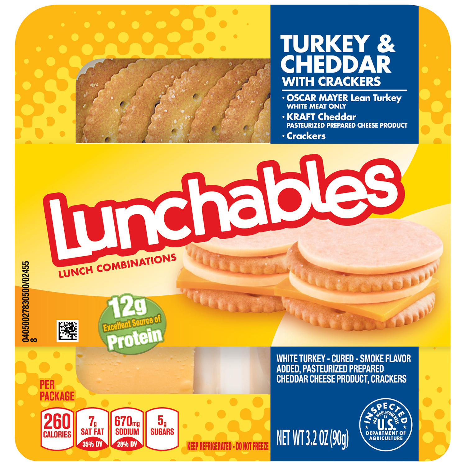 Lunchables Convenience Meals - Turkey and Cheddar 3.2 oz. image