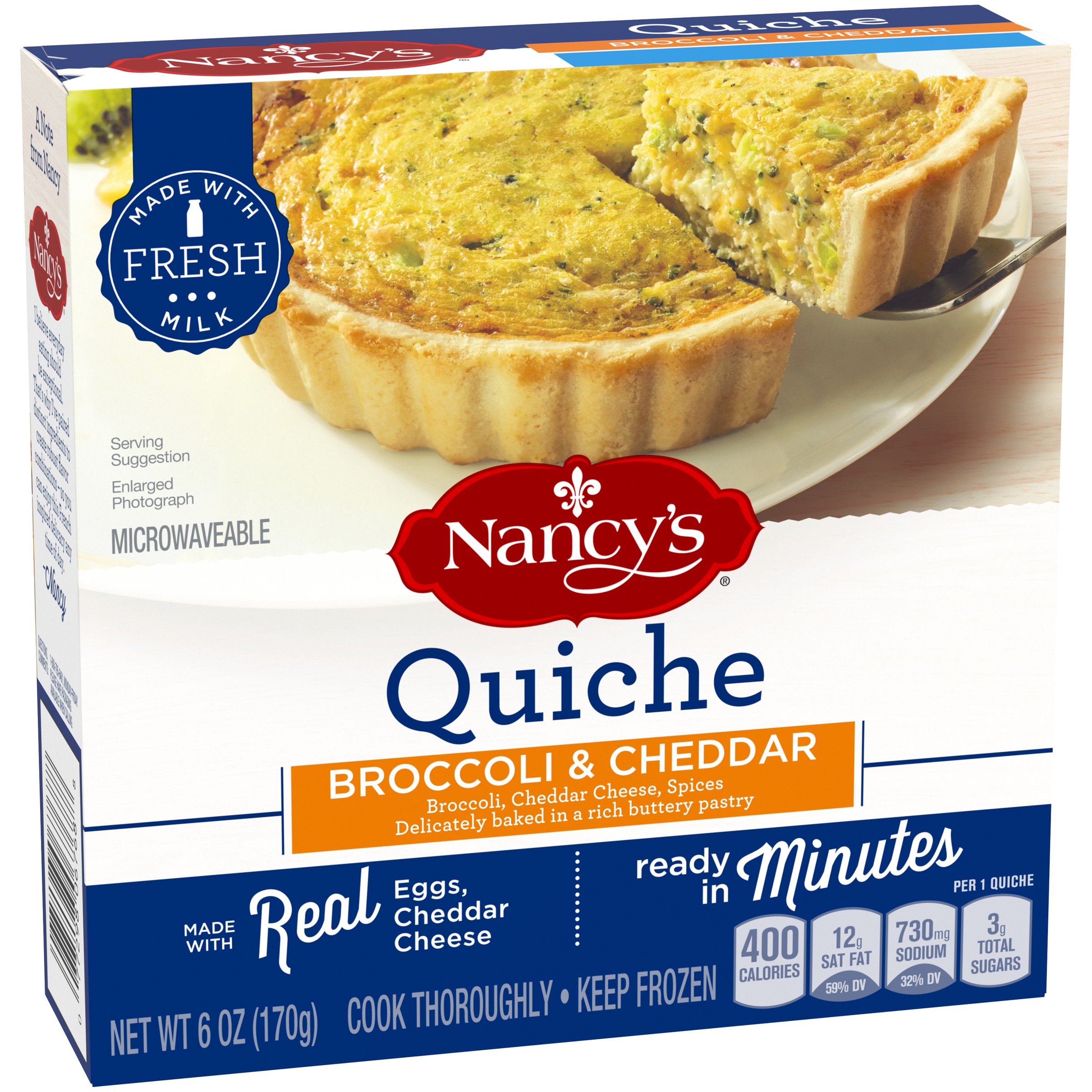 Nancy S R Florentine Quiche 6 Oz Box