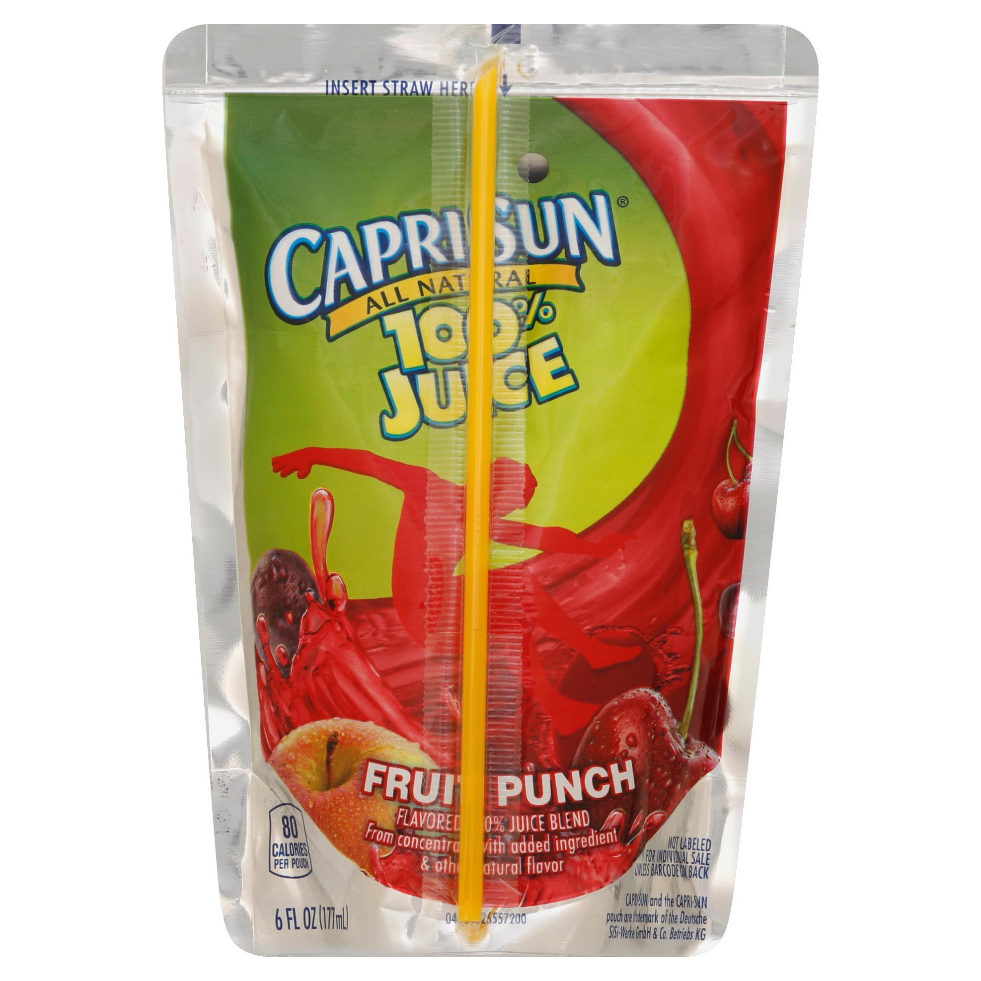 Capri Sun 100% Juice - Fruit Punch, 6 oz.