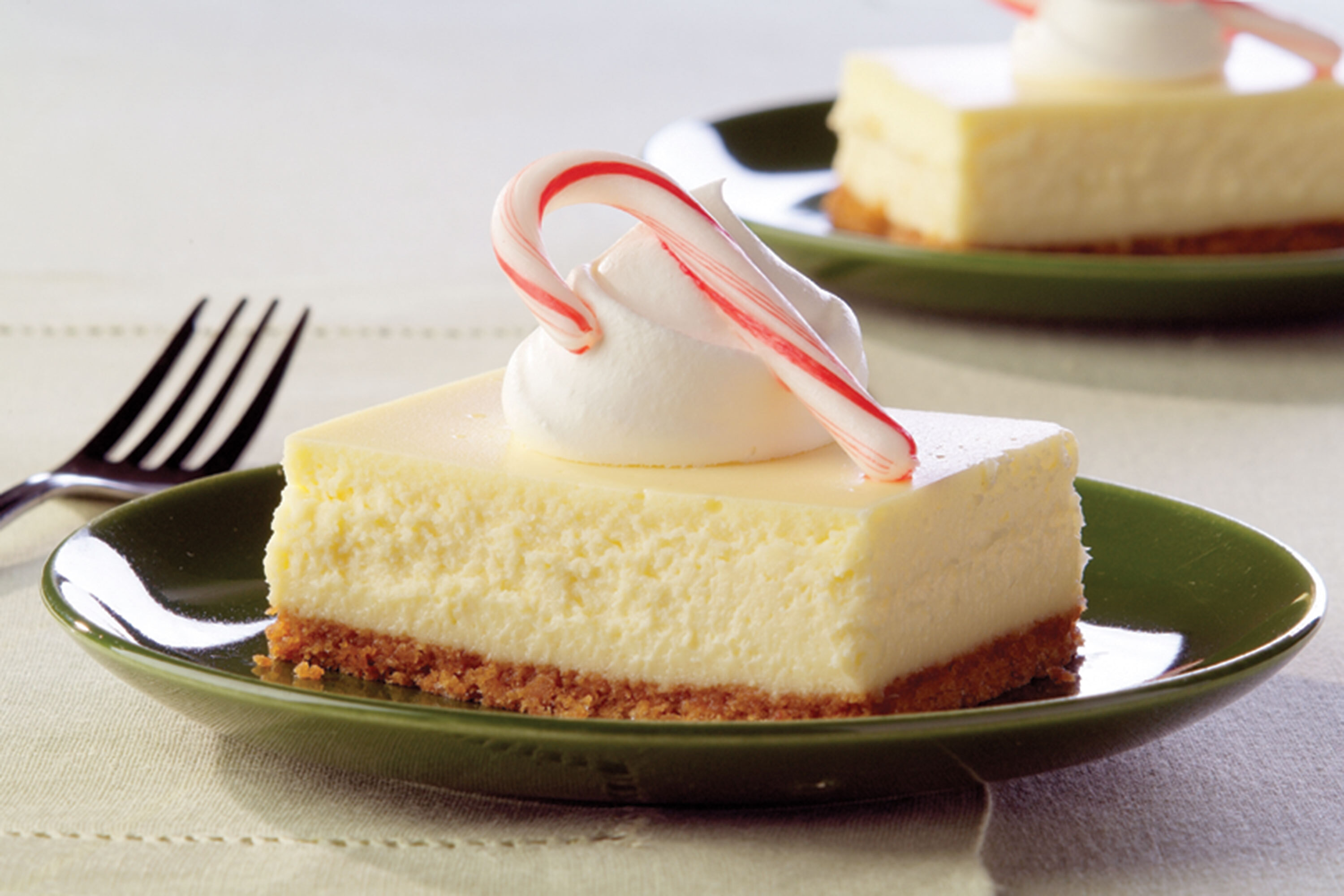 PHILADELPHIA White Chocolate-Peppermint Cheesecake