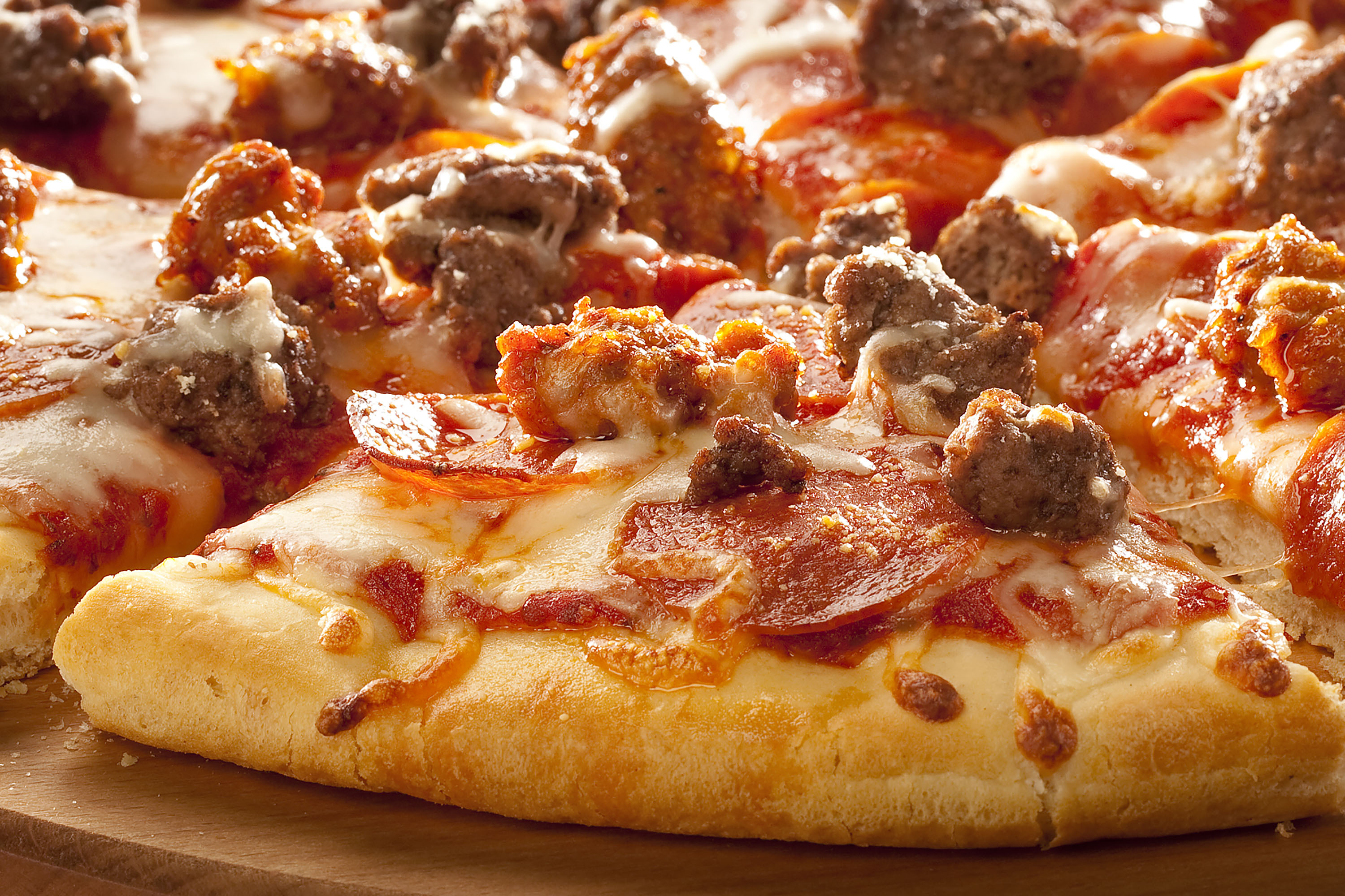 Savory Meat Pizza