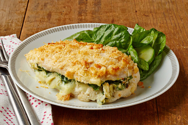 Spinach And Artichoke Stuffed Chicken Breasts My Food And Family