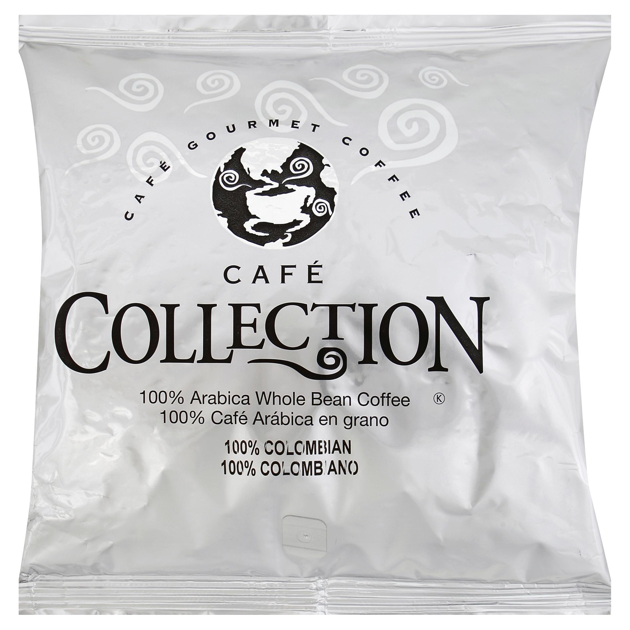 CAFÉ COLLECTIONS 100% Colombian Whole Bean Coffee, 2 lb. Bag, 12 Count image