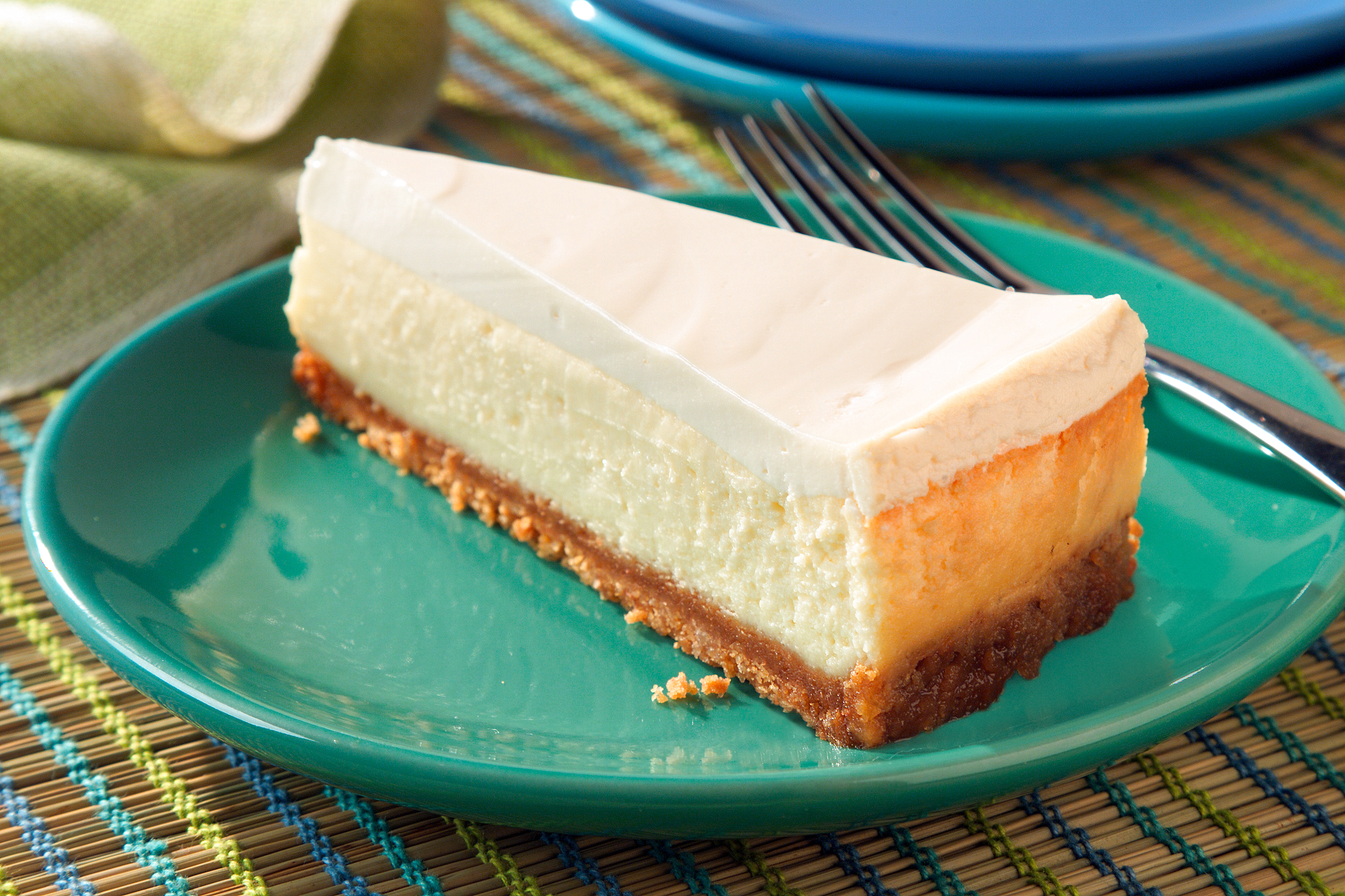 Cheesecake With Sour Cream Topping My Food And Family