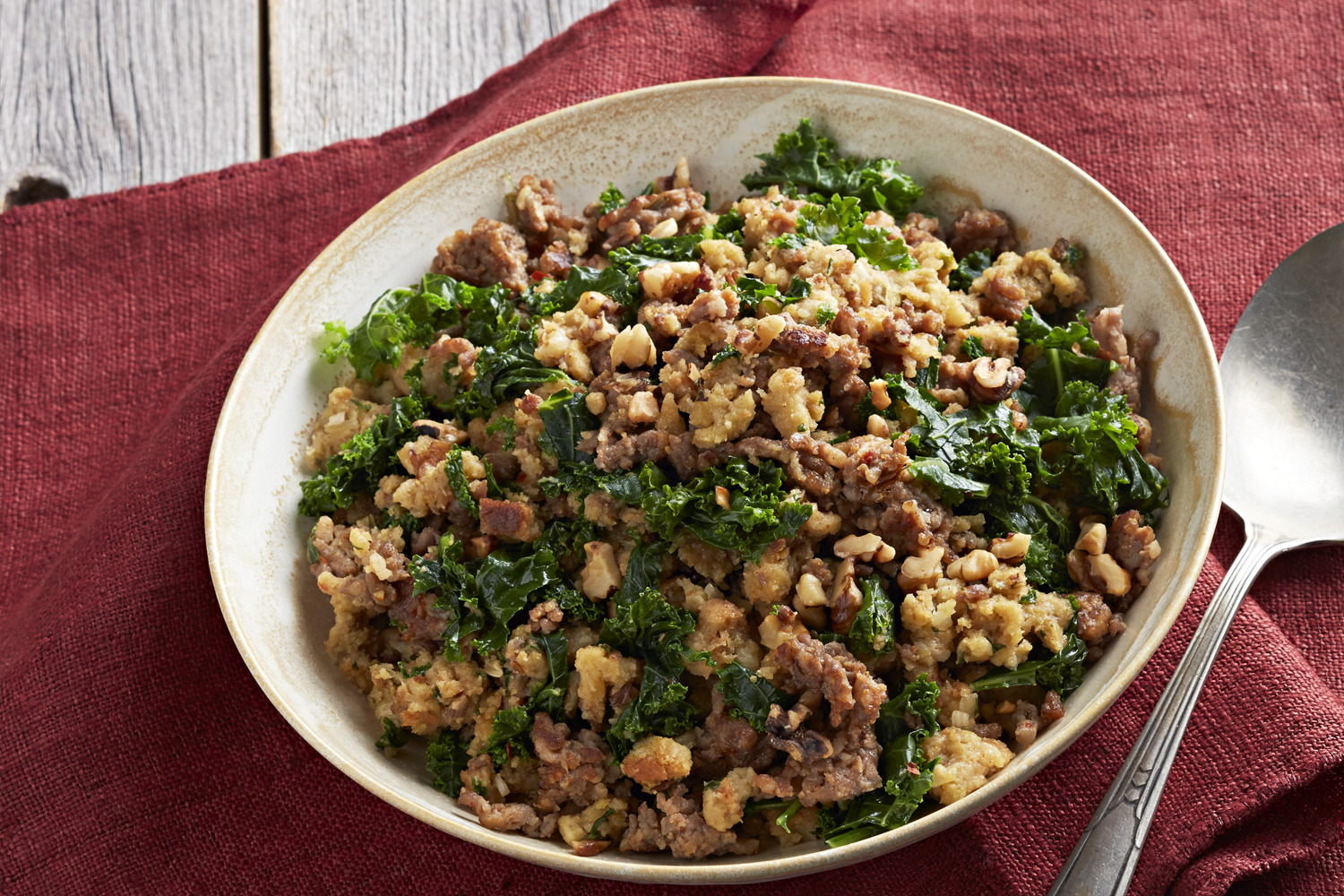 Italian Sausage and Kale Stuffing Image 1