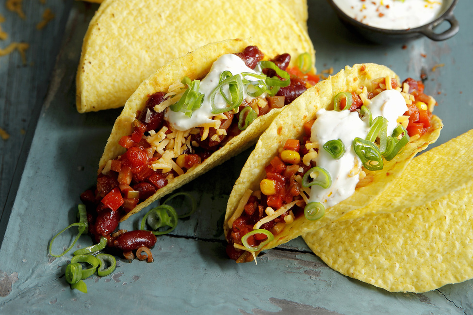 Corn And Kidney Bean Tacos Kraft What S Cooking