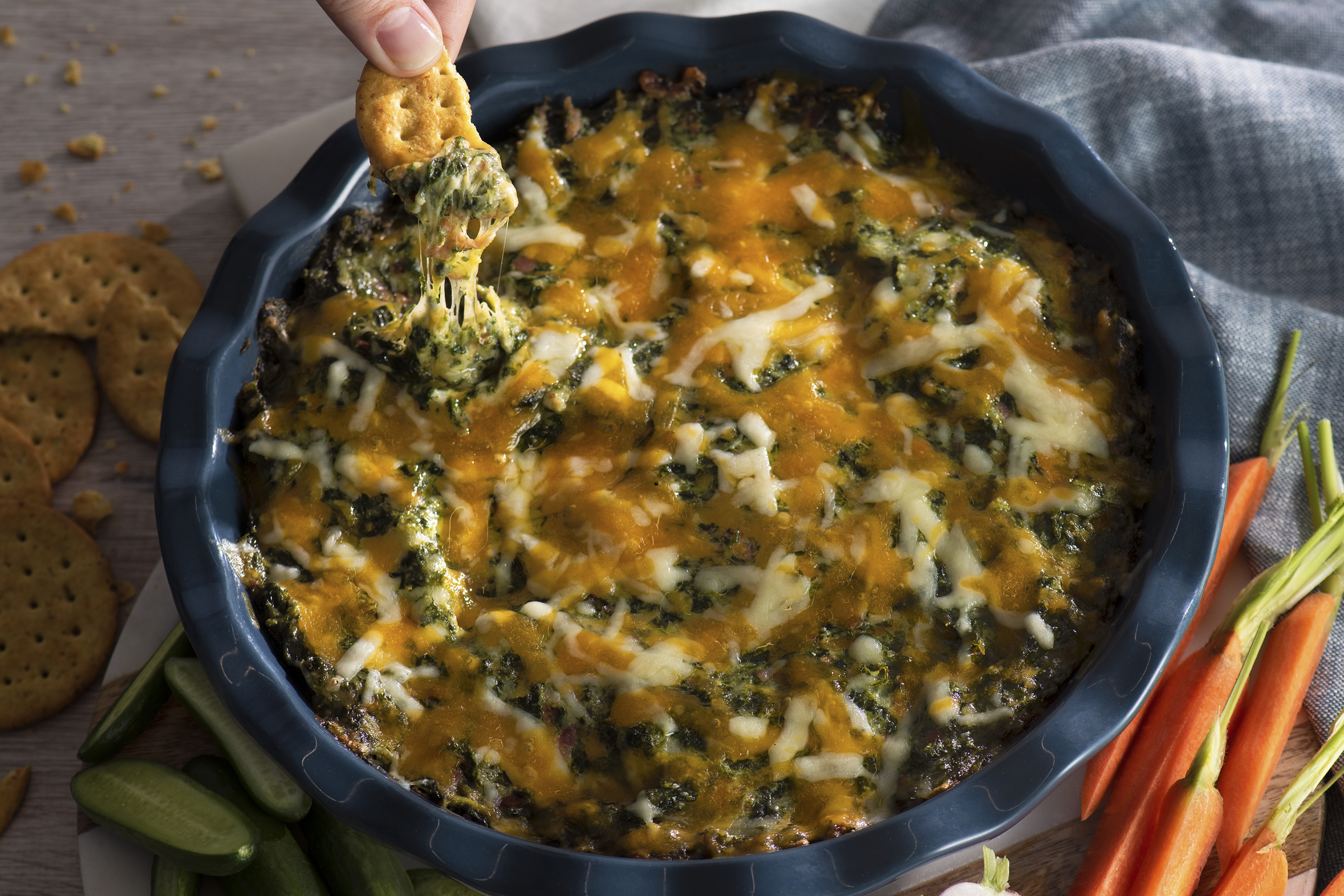 Cheddar, Spinach and Bacon Dip  Image 1