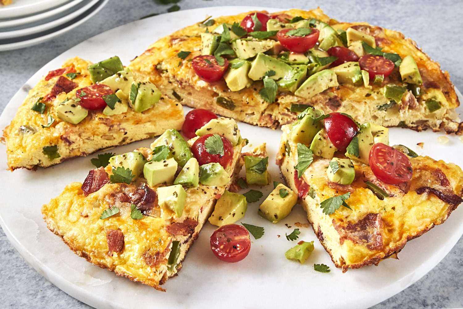 Summer Vegetable Frittata with Bacon Image 1
