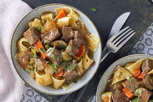 Pressure Cooker Mushroom-and-Beef Stew