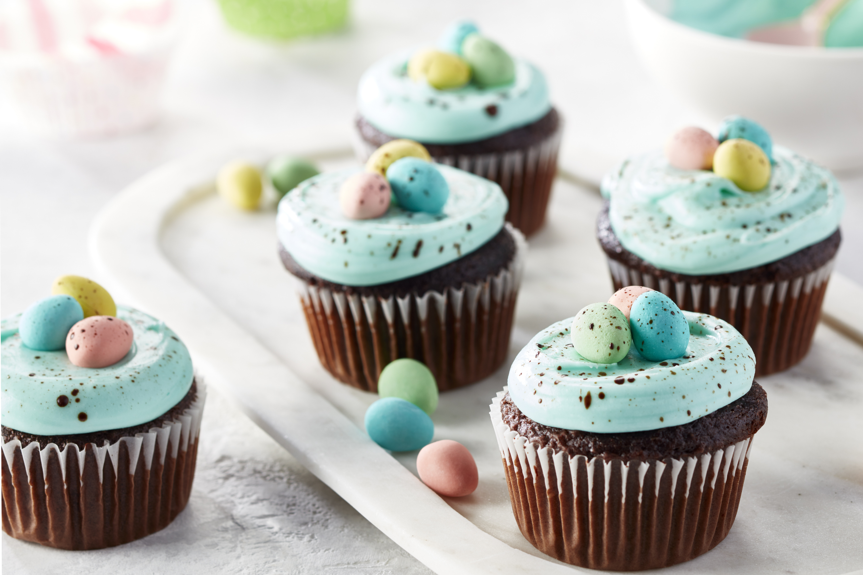Easter Egg Speckled Cupcakes Image 1