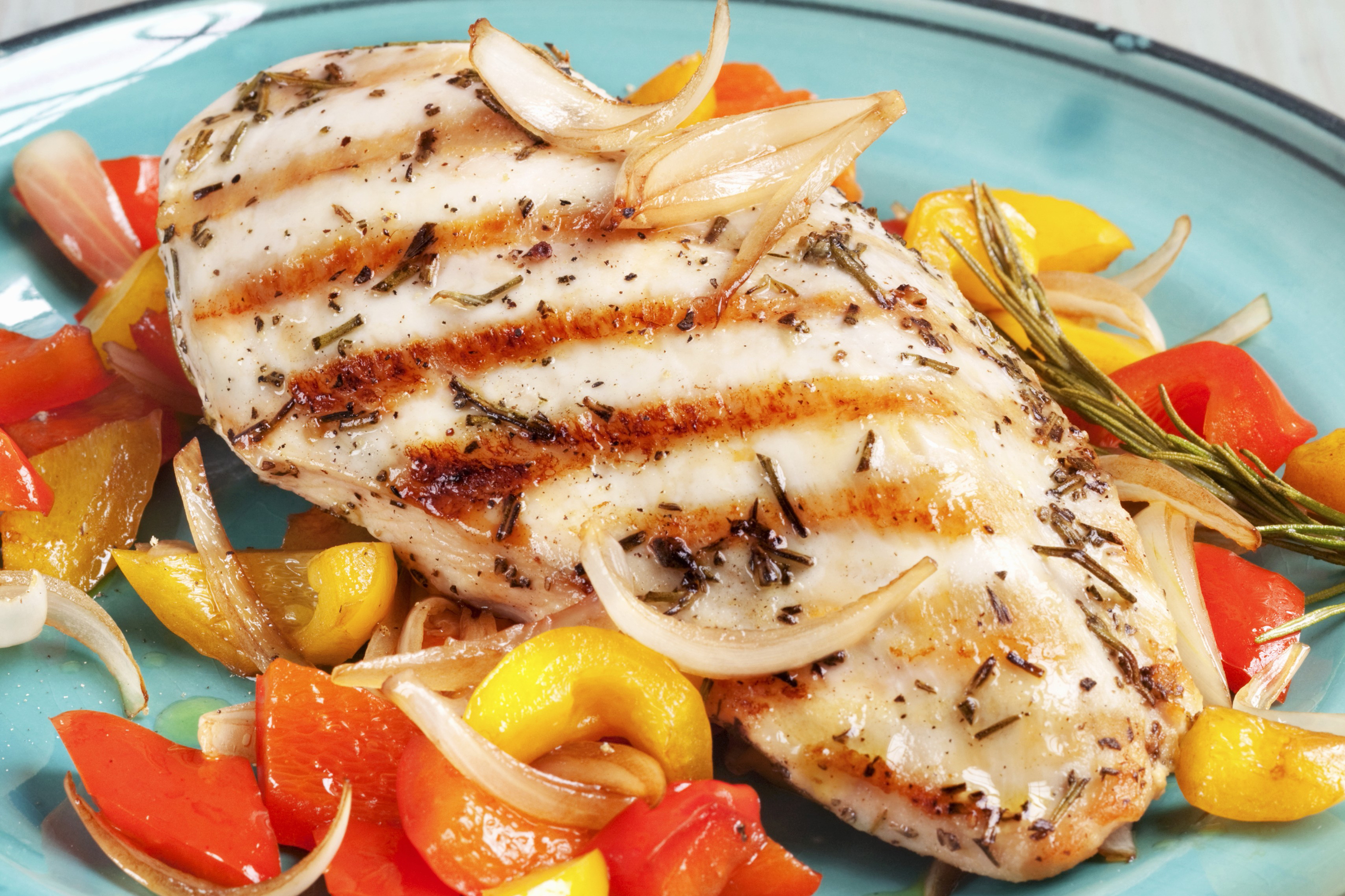 Rosemary Grilled Chicken with Peppers and Onions Image 1
