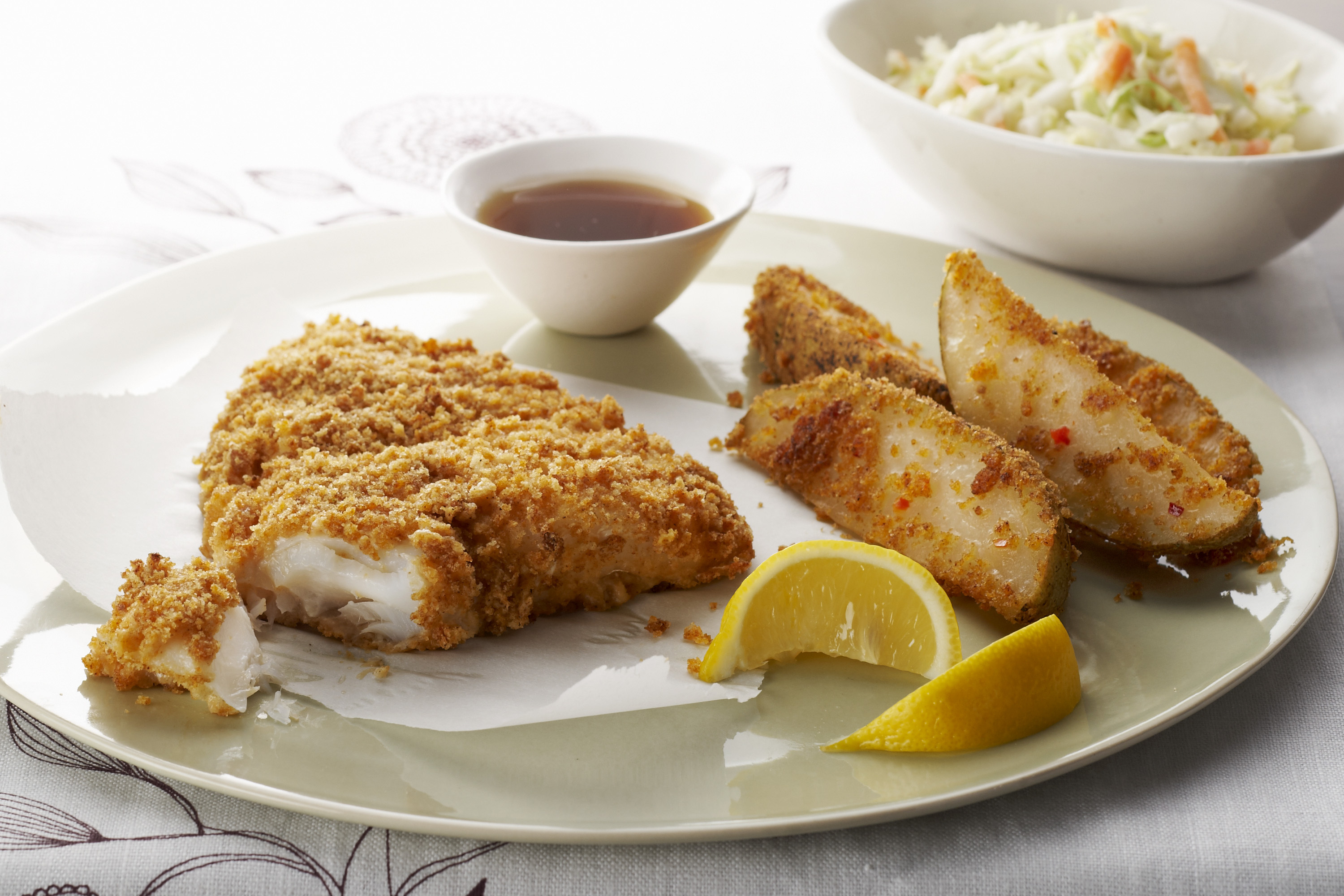 Easy Baked Fish and Chips Recipe