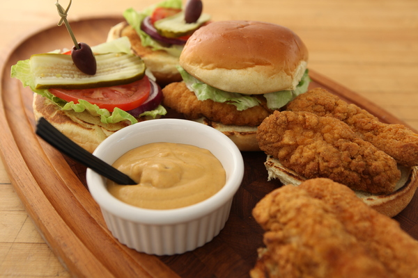 Crispy Buttermilk Chicken Sandwich with 5 Alarm Mustard