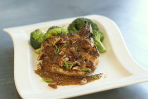 Carolina Mustard and Pecan Glazed Pork Chop
