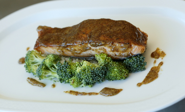 Maple Mustard Glazed Rainbow Trout