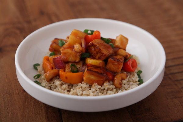 Sweet and Sour Pineapple Fried Tofu