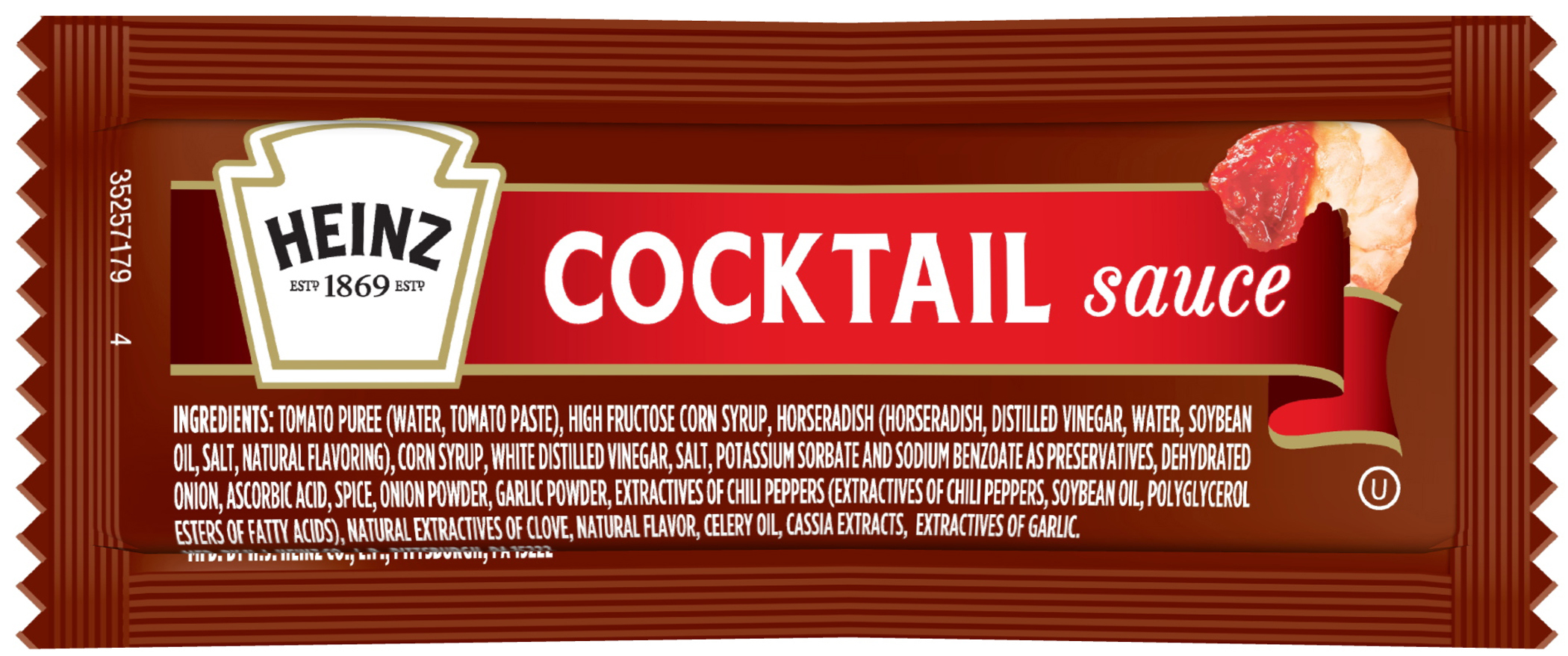Heinz Cocktail Sauce Packet, 12 gm. image