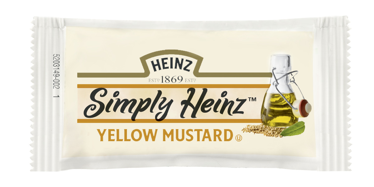 Simply Heinz Yellow Mustard Packet, 5.5 gm. image