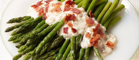 Asparagus & Bacon with Onion Ranch Dressing