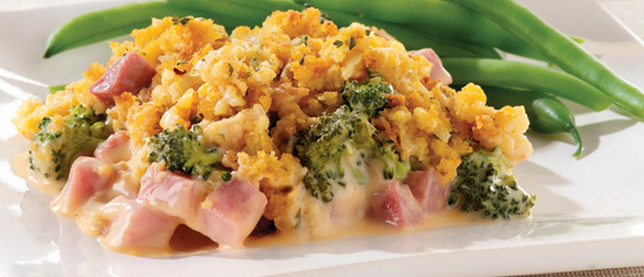 Cheesy Ham & Broccoli Bake