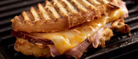 Smoky Grilled Ham and Cheese Sandwiches
