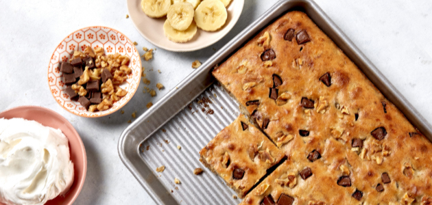 Sheet-Pan Banana Bread with Chocolate Chips
