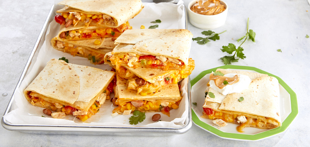 Sheet-Pan Chicken Quesadilla