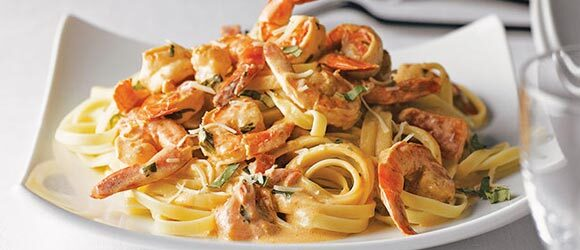 Easy Shrimp Fettuccine Recipe for Two