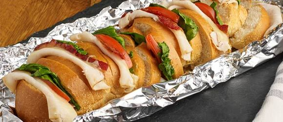 Foil Pack Turkey and Bacon Sandwich