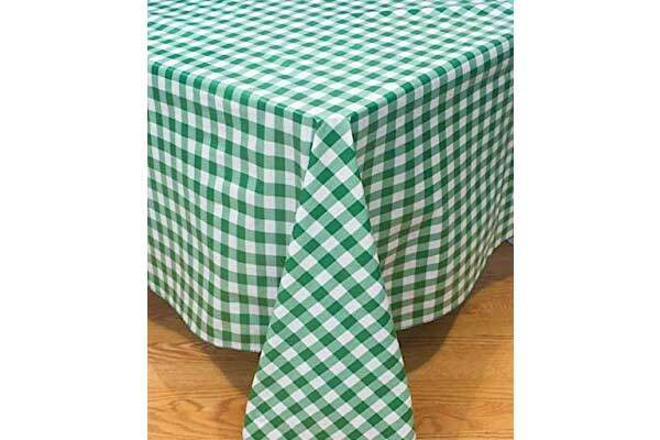 Green Checked Tablecloth