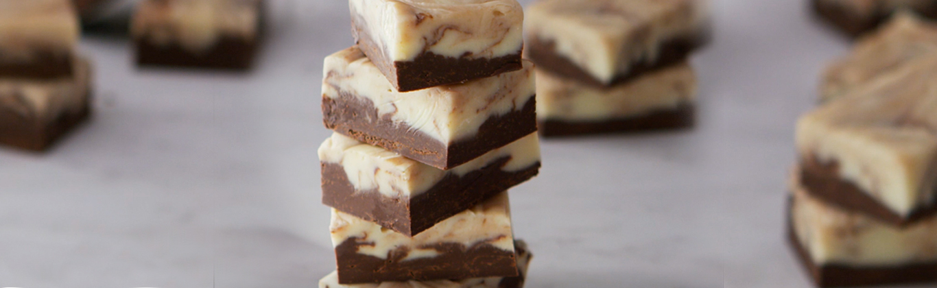 Swirled Double- Chocolate Fudge