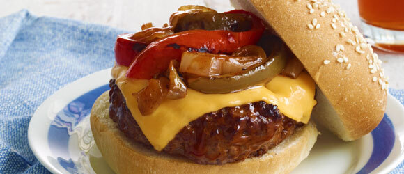 Pepper and Onion Burger